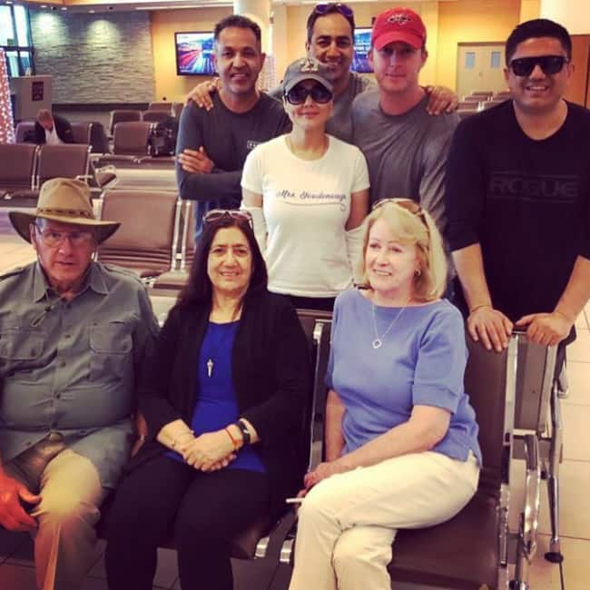 Preity Zinta snapped with her and Gene Goodenough's family