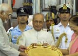 Pranab Mukherjee's Presidential career in pics