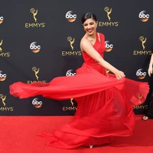 Priyanka Chopra couldn't stop flaunting her CHARISMATIC gown at the 68th Primetime Emmy Awards!