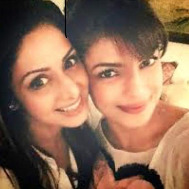 Priyanka Chopra   s selfie with Sridevi