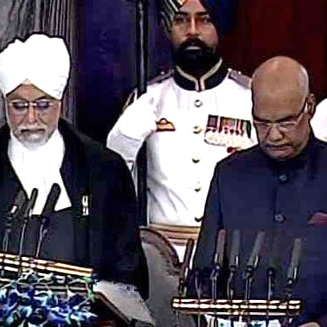 Ram Nath Kovind taking oath as the 14th President of India