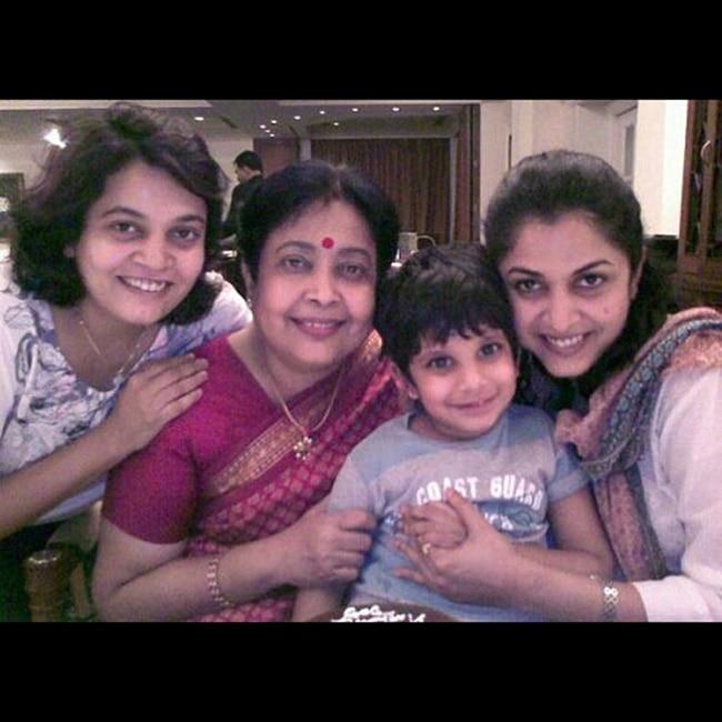 Ramya Krishnans Family Picture