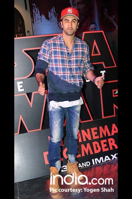 Ranbir Kapoor at special screening of Star Wars  The Last Jedi