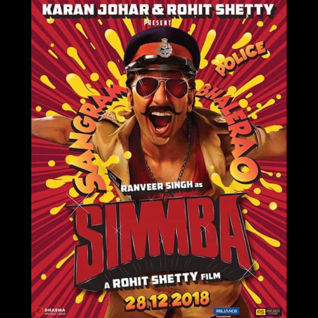Ranveer Singh's first look in and as Simmba