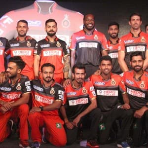 Rcb Players Clicked During The Launch Of Team S New Jersey