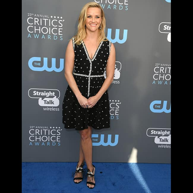 Reese Witherspoon at red carpet of 23rd Critics' Choice Awards