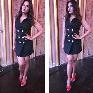 Richa Chadha impresses us with her fashion sense during Fukrey Returns promotions!