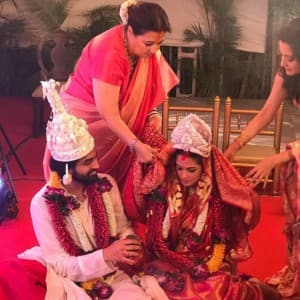 First pics from actress Riya Sen of Shivam Tewari's wedding are here!