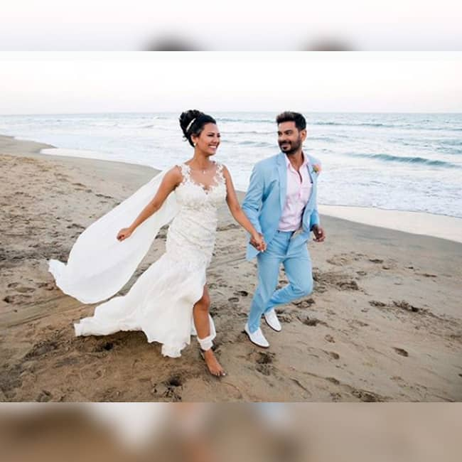 Rochelle Rao and Keith Sequeira on their wedding day