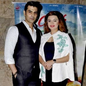 Rohit Bakshi and Aashka Goradia during a movie screening ... Rohit Bakshi Girlfriend