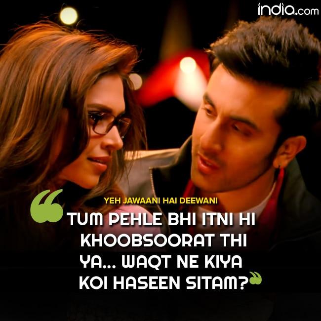 Romantic Bollywood dialogue from Yeh Jawaani Hai Deewani