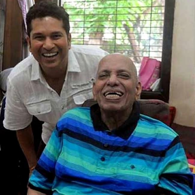 Sachin Tendulkar and Ramakant Achrekar