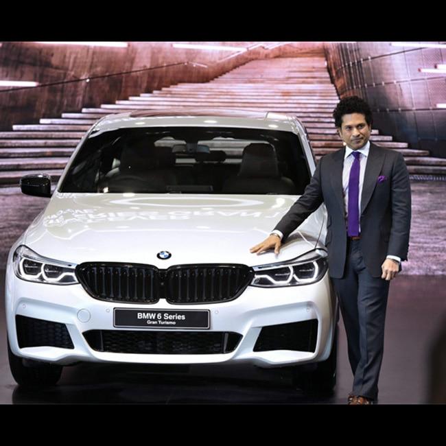 Sachin Tendulkar unveiling BMW 6 series at Auto Expo2018