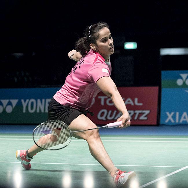 Saina Nehwal clicked during Australian Open Super Series final match