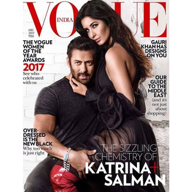 Salman Khan and Katrina Kaif on cover of Vogue magazine's December issue