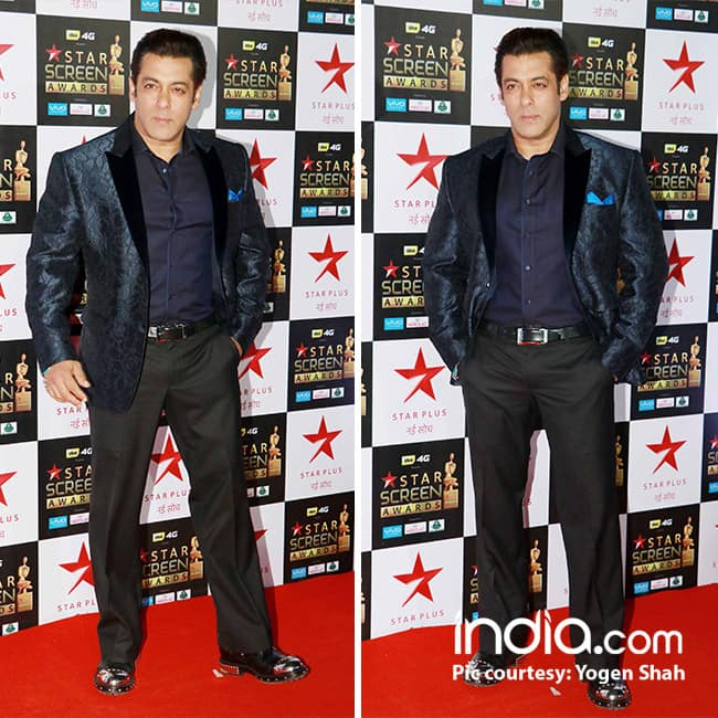Salman Khan at red carpet of Star Screen Awards 2017