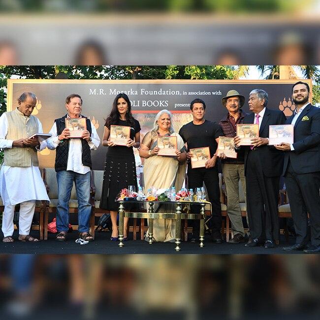 Salman Khan with his family and Katrina Kaif at Bina Kak   s book launch