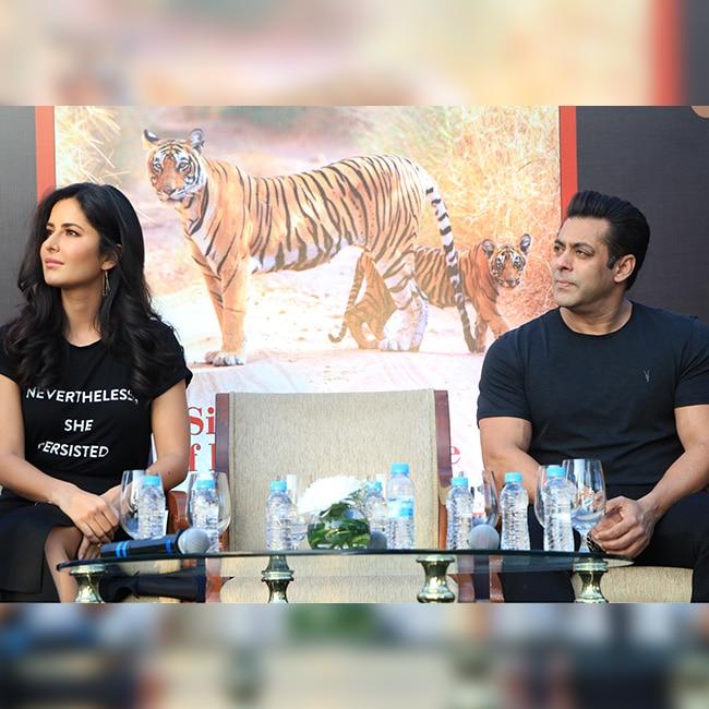 Salman Khan with Tiger Zinda Hai co star Katrina Kaif at Bina Kak   s book launch