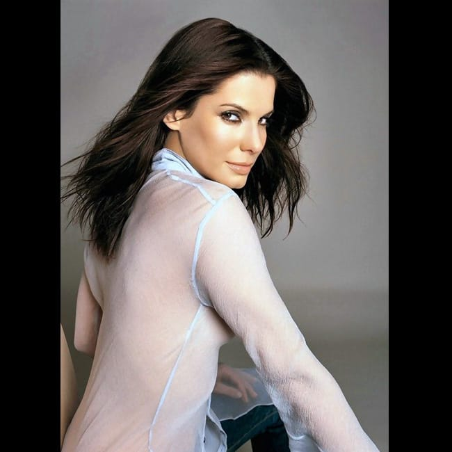 Sandra Bullock poses for a sexy picture