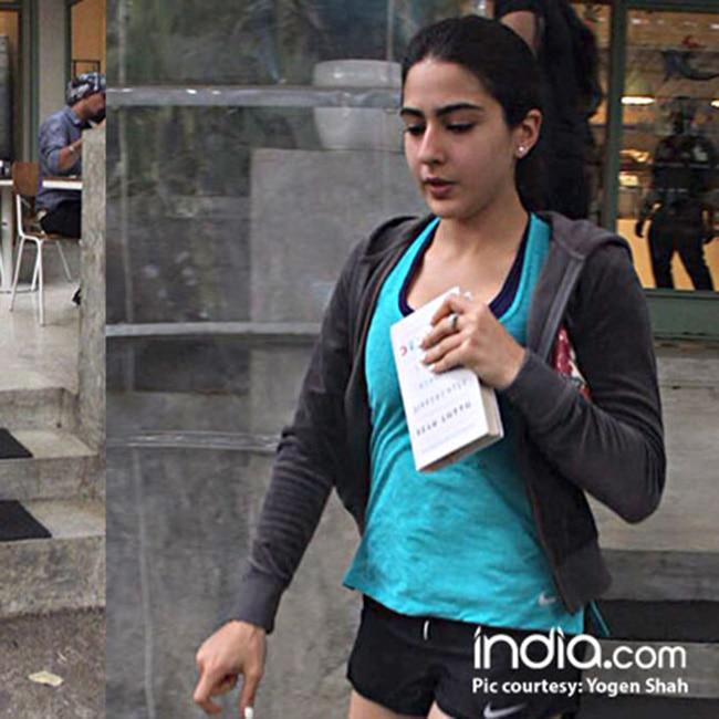 Sara Ali Khan in her gym attire