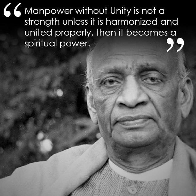 Sardar Vallabbhhai Patel on unity