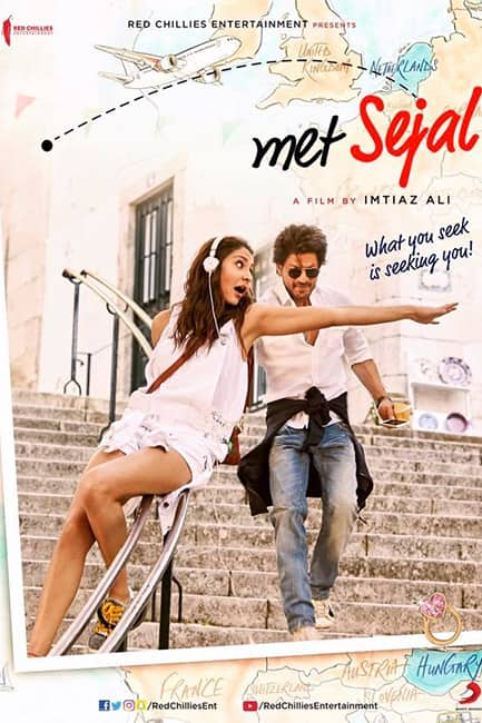 Second poster of Shah Rukh Khan and  Anushka Sharma   s Jab Harry Met Sejal