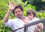 PICS: Shah Rukh Khan wishing fans 'Eid Mubarak' with Abram is the best sight of the day!