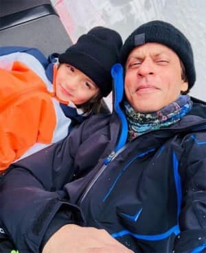 IN PICS: Abram Khan and Shah Rukh Khan turn snowmen during their Switzerland vacation
