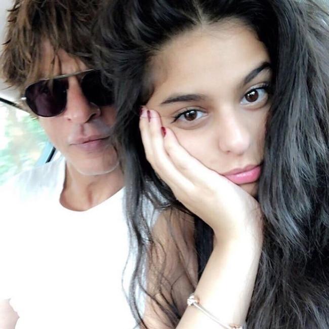 Shah Rukh Khan's selfie with daughter Suhana