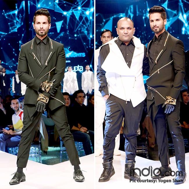 Shahid Kapoor walks the ramp at GQ fashion nights 2017
