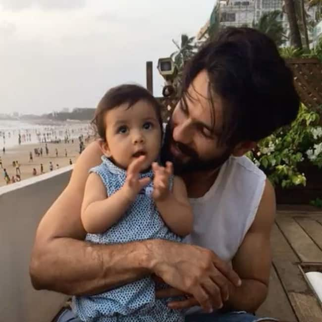 Shahid Kapoor with daughter Misha