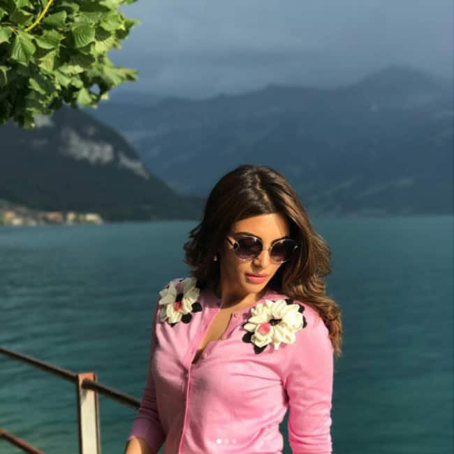 Shama Sikander clicked during Switzerland vacation