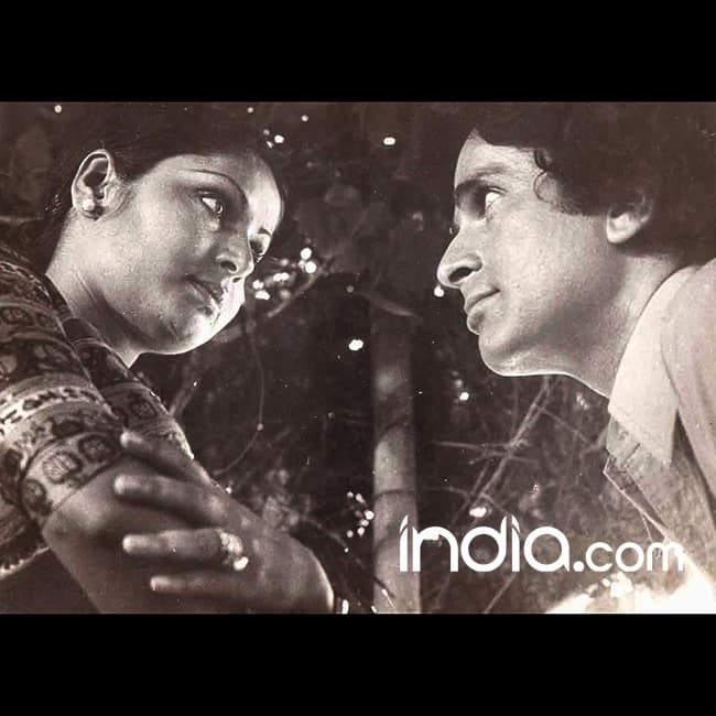 Shashi Kapoor with actress Rakhi