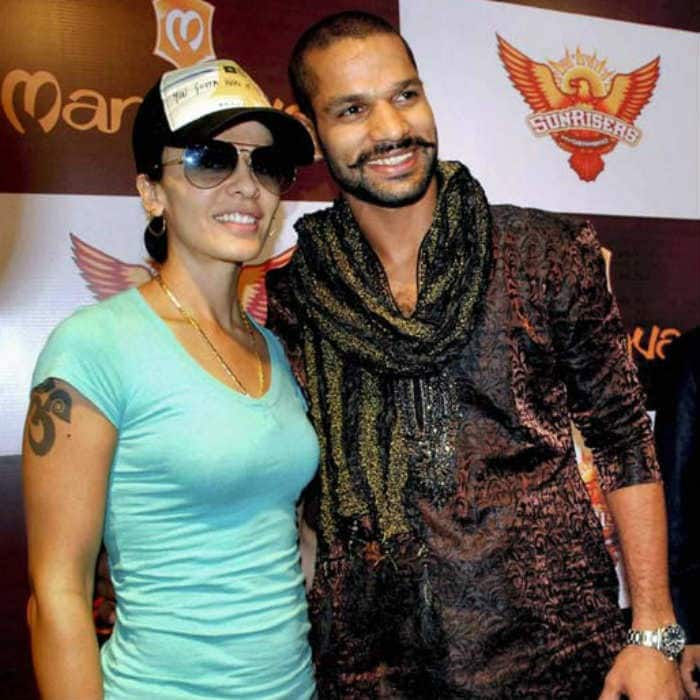 Sensational Shikhar Dhawan And Wife Ayesha Mukherjee Virat Kohli Anushka Short Hairstyles For Black Women Fulllsitofus