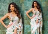 IN PICS:  Shilpa Shetty makes wearing a sari interesting than ever