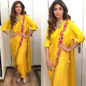 PICS: Shilpa Shetty takes the art of doing sari to a different level altogether!