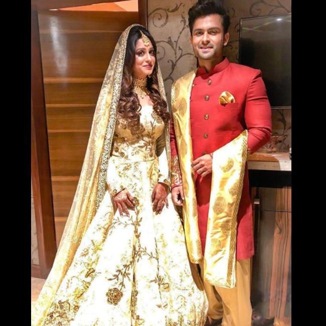 Shoaib Ibrahim and Dipika Kakkar snapped at their reception party
