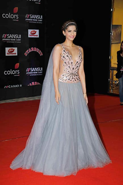 Sonam Kapoor looked ravishing in her sheer outfit during the Stardust Awards 2016
