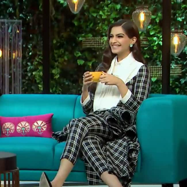 Image result for sonam kapoor talking koffee with karan season 5