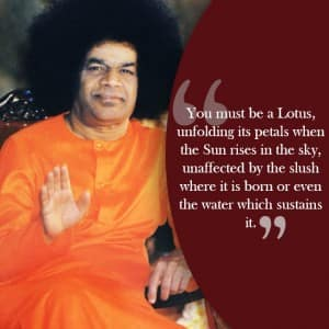 10 inspirational quotes by Sri Sathya Sai Baba for life