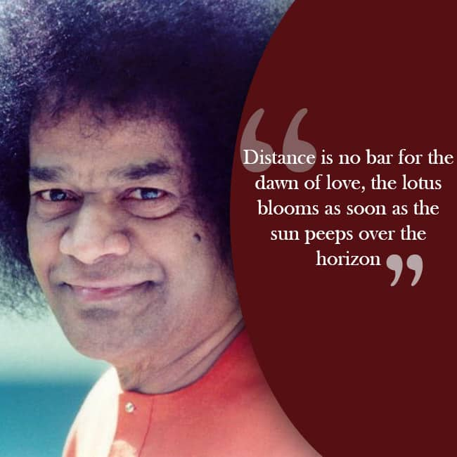Sri Sathya Sai Baba   s inspiring quote about love and dedication