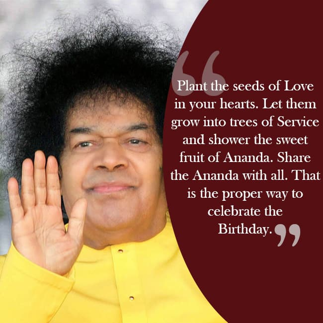 Sri Sathya Sai Baba   s quote on spreading love