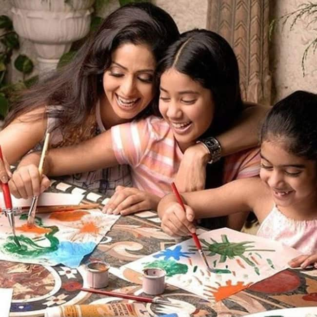 Sridevi Kapoor with daughters Jhanvi and Khushi Kapoor