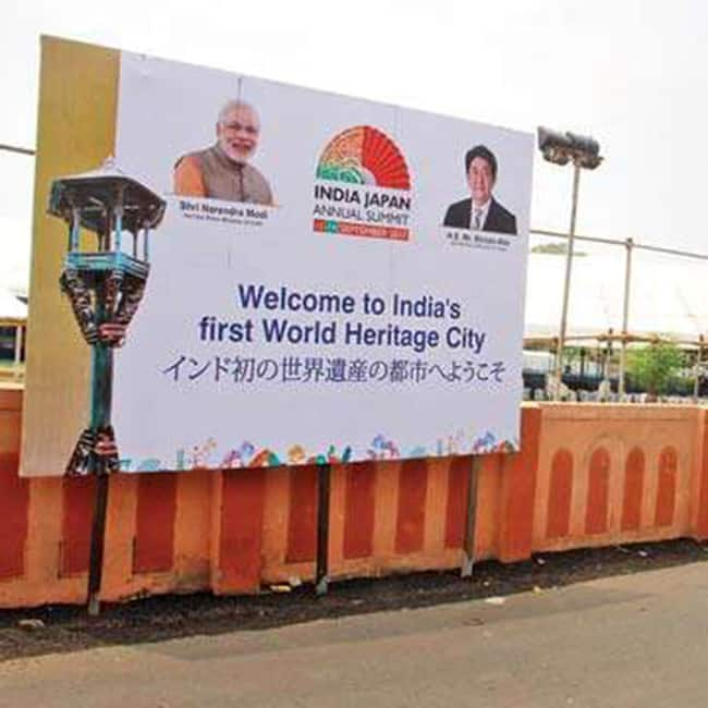 Stage set for Japanese Prime Minister Shinzo Abe   s road show in Ahmedabad