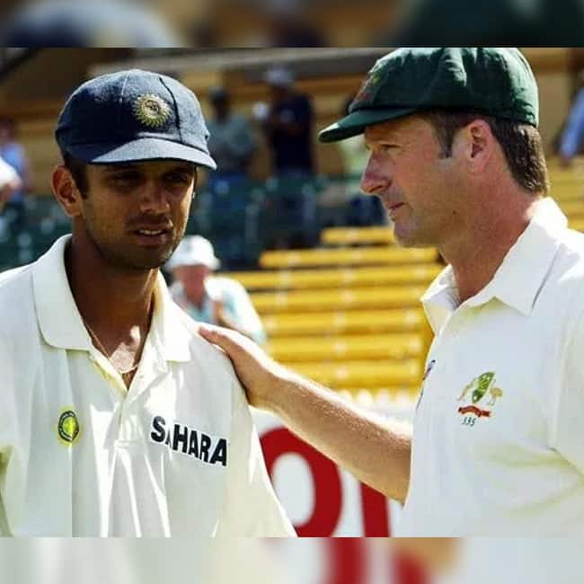 Steve Waugh and Rahul Dravid