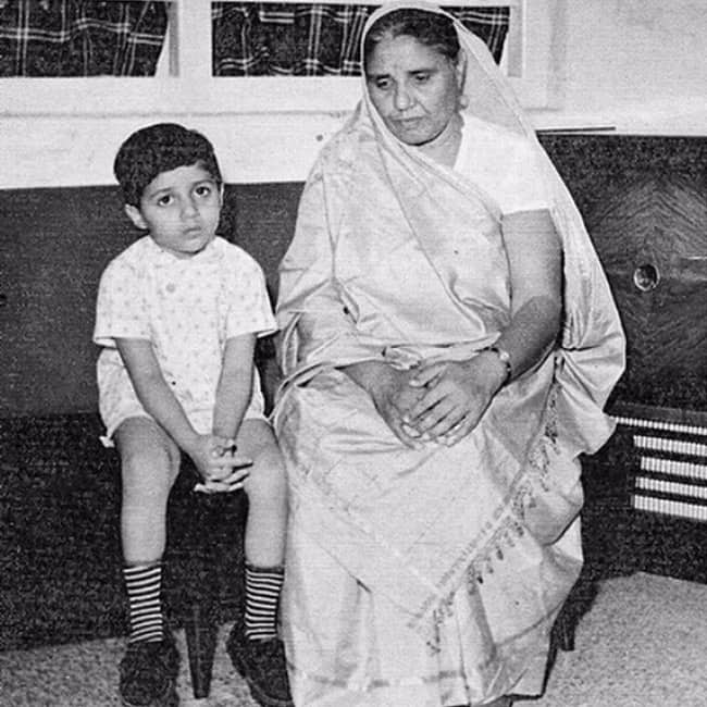 Sunny Deol with his grandmother
