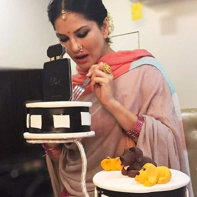 Birthday Cake Images With Name Sunny : Sunny Leone shares picture of her birthday cake on ...