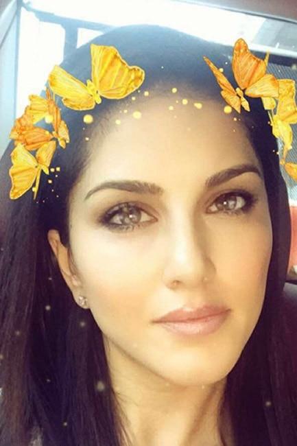 Sunny Leone's Snapchat photo