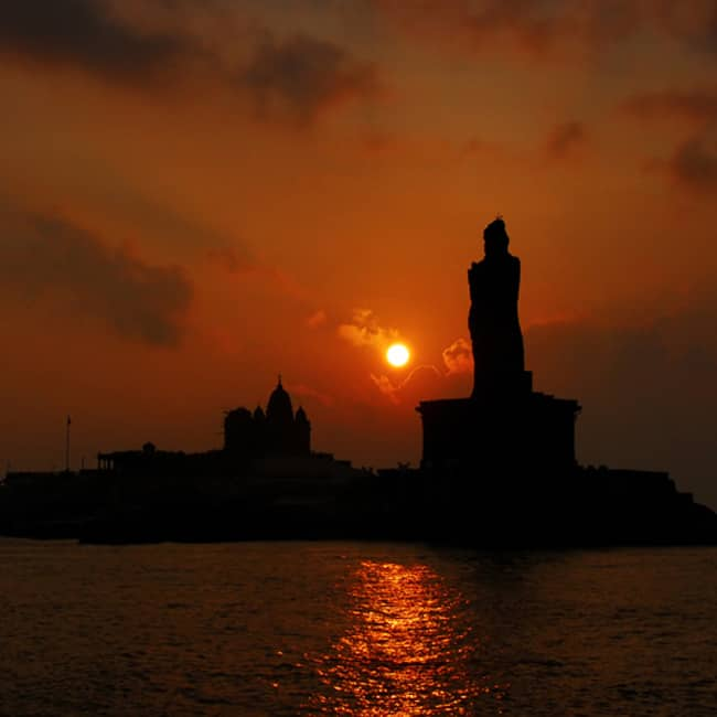 Sunset point in Kanyakumari, Tamil Nadu