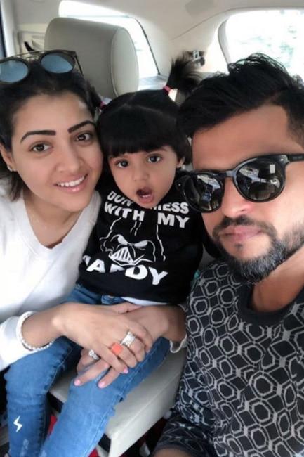Suresh Raina's selfie with family